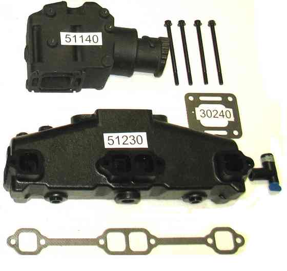 51230-51140 Exhaust manifold kit V8 350 305
