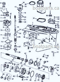 Johnson outboard V4 60 degree 1995-2006