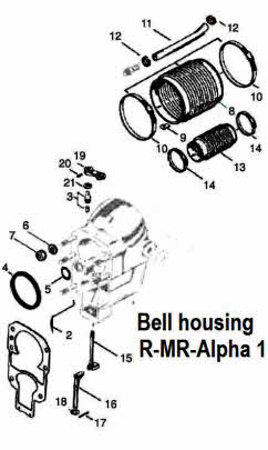Mercruiser bell housing layout