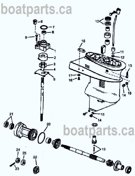 9 9 -15 hp Johnson Evinrude outboard parts drawing